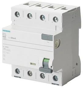 Siemens Fehlerstromschutzschalter Typ A (25 A, 4-polig)