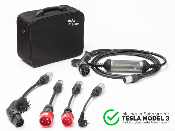 "JUICE BOOSTER 2 ""Tesla Model 3 Set"" — universelle Ladestation bis 22 kW"
