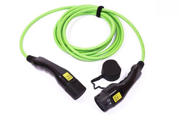 Electric-Ways Typ 2 - Typ 2 Ladekabel — 1 Phasig / 32 A / 7,4 kW / glatt